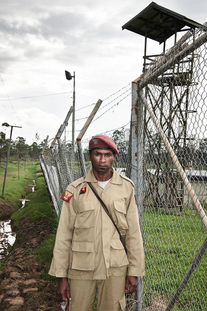 Japhet Koena portrait Prison Guard Papua New Guinea